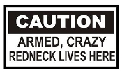 Redneck Lives Here Decal Sticker