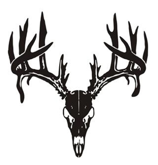 deer skull v5 decal sticker rh stickthisgraphics com deer head logo designs deer head logo designs