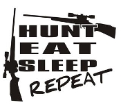 Hunt Eat Sleep Repeat Decal Sticker