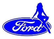Ford Girl v13 Decal Sticker