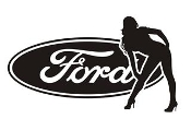 Ford Girl v14 Decal Sticker