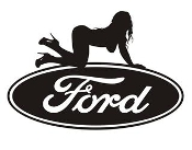Ford Girl v15 Decal Sticker