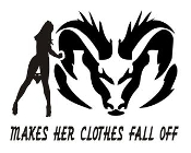 Dodge Makes Her Clothes Fall Off Decal Sticker