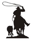 Calf Roping Silhouette v2 Decal Sticker