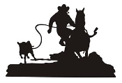 Calf Roping Silhouette v7 Decal Sticker