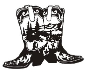 Cowboy Boots v5 Decal Sticker
