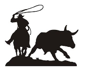 Cowboy Roping Silhouette v3 Decal Sticker