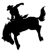 Saddle Bronc Silhouette v3 Decal Sticker