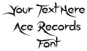 Ace Records Font Decal Sticker