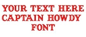 Captain Howdy Font Decal Sticker