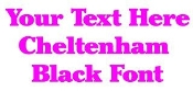 Cheltenham Black Font Decal Sticker