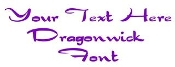 Dragonwick Font Decal Sticker