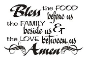 Bless the Food Before Us Decal
