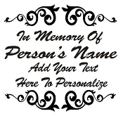Memorial Design Decal