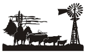 Cowboy Western Scene v3 Decal Sticker