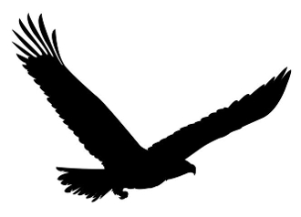 American Eagle Silhouette Decal Sticker