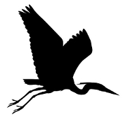 Blue Heron Silhouette Decal Sticker