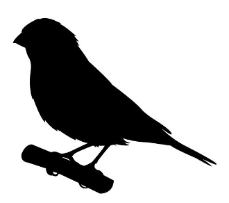 Finch Silhouette Decal Sticker