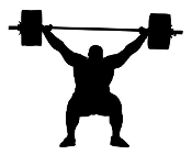 Powerlifter Silhouette v6 Decal Sticker