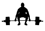 Powerlifter Silhouette v5 Decal Sticker