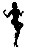 Female Bodybuilder Silhouette Decal Sticker