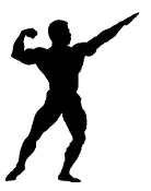 Body Builder Silhouette v8 Decal Sticker