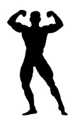 Bodybuilder Silhouette v10 Decal Sticker