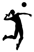 Volleyball Girl Silhouette v15 Decal Sticker