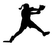 Softball Pitcher Silhouette Decal Sticker