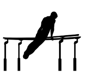 Parallel Bars Silhouette Decal Sticker