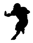 Football Player Silhouette v6 Decal Sticker