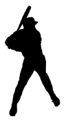 Baseball Hitter Silhouette v4 Decal Sticker