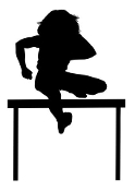 Track Hurdler Silhouette v1 Decal Sticker