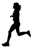 Runner Silhouette v7 Decal Sticker