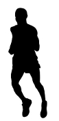 Runner Silhouette v6 Decal Sticker