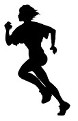 Runner Silhouette v5 Decal Sticker