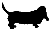Bassett Hound Silhouette Decal Sticker