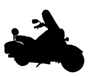 Motorcycle Silhouette v5 Decal Sticker