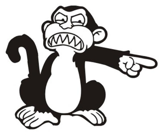 Evil Monkey Decal Sticker