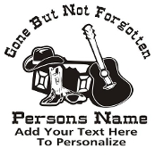 Country Western Memorial Decal Sticker
