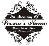 Memorial Design v2 Decal Sticker