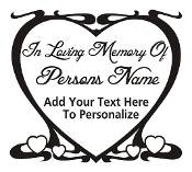 Memorial Heart Design Decal Sticker