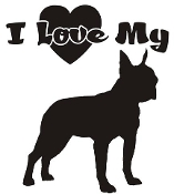 I Love My Boston Terrier Decal Sticker