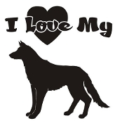 I Love My German Shepherd Decal Sticker