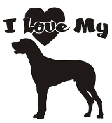 I Love My Great Dane Decal Sticker