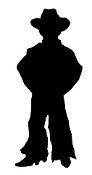 Little Cowboy Silhouette Decal Sticker