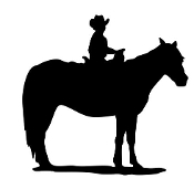 Little Cowboy on Horse Decal Sticker