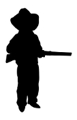 Little Cowboy Silhouette v2 Decal Sticker