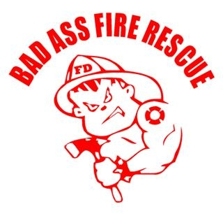 Bad Ass Fire Boy Decal Sticker