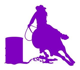Barrel Racer Silhouette v2 Decal Sticker